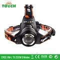 À prova d' água CREE XM-L T6 zoomable faróis LED head lamp 3800LM 18650 recarregável iluminação frontal cabeça luz do flash