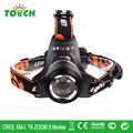 Waterproof CREE XM-L T6 LED head lamp 3800LM zoomable headlights 18650 rechargeable front lighting head flash light