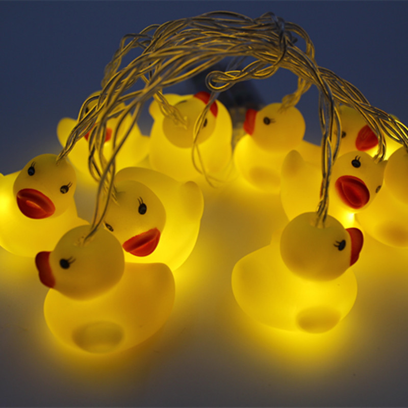 10Leds  Led String Light Cute Animal Chrismas Holiday Indoor Outdoor Decoration Warm White Silicon Creative Children Gift