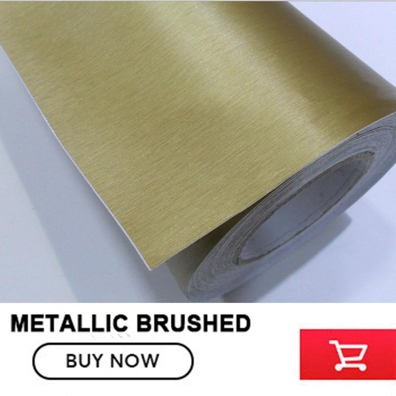 Titane Gris Aluminium Brossé Enveloppe de Vinyle De Voiture Wrap Métal Film Avec la Bulle Libre 1.52x30 m/rouleau prix d'usine en gros - 5