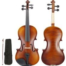 цена на 4/4 3/4 1/2 Professional Violin Technology Pattern Tiger Pattern  Adult Solid Wood Grading Performance violin  TL-VP001-3
