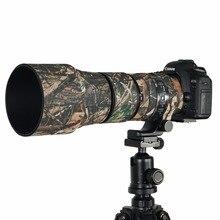 Camuflagem de borracha contemporânea lente neoprene casaco lente impermeável capa protetora camo caso para sigma 150 600mm c versão