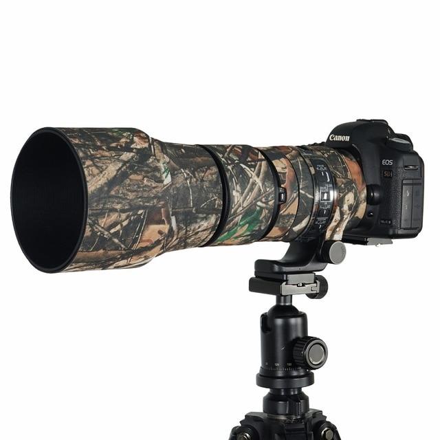 Contemporain en caoutchouc Camouflage néoprène lentille manteau étanche lentille protection manteau couverture Camouflage étui pour Sigma 150 600mm C version