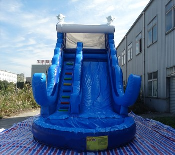 Outdoor inflatable water slide with swimming pool ,inflatable bouncer ,inflatable slide  for sale