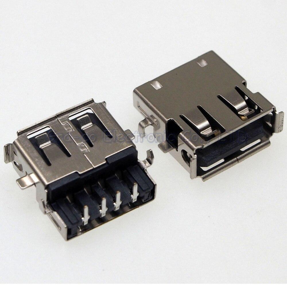 10pcs USB 2.0 Connector Port 2.0 USB Jack for DELL Lenovo Samsung Toshiba etc notebooks Sink Plating