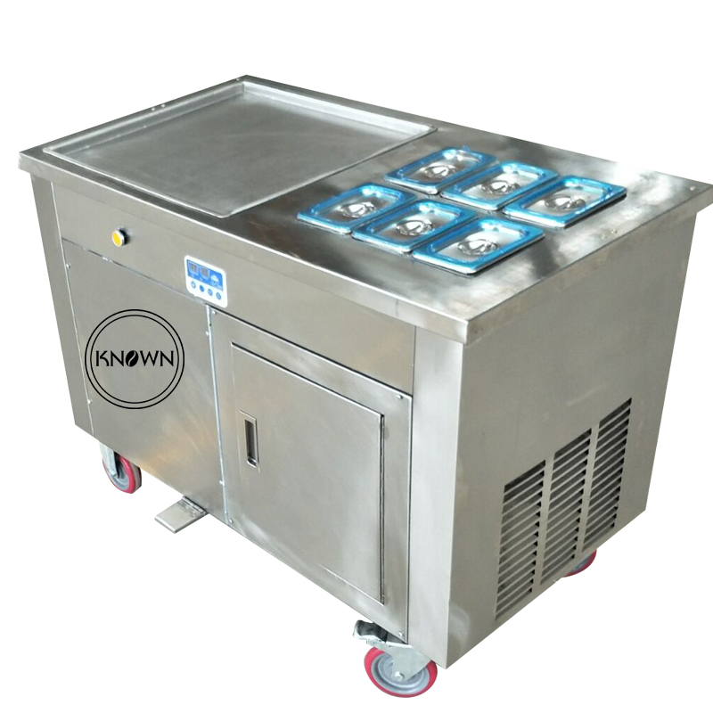 Commercial 450mm square pan flat pan fried ice cream roll cold plate making machine with CE ISO approved|Ice Cream Makers| |  - title=