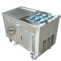 Máquina de fabricación de sartenes de helado frito sartén plana cuadrada de 450mm con certificado CE ISO
