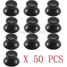 IVYUEEN 50 pcs for Microsoft Xbox 360 controller Black / Gray Analog Sticks Thumbsticks Joystick Cap Mushroom Head Grip Cover