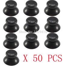 IVYUEEN 50 pcs voor Microsoft Xbox 360 controller Zwart/Grijs Analoge Sticks Duimknoppen Joystick Cap Paddestoel Hoofd Grip Cover