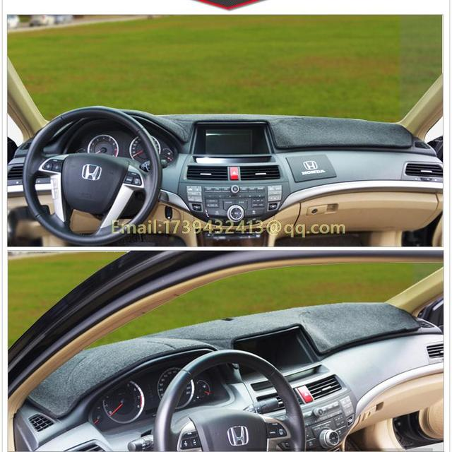 Car Dashboard Covers Instrument Platform Pad Accessories For Honda Accord Generation 7 8 9 2003 2007