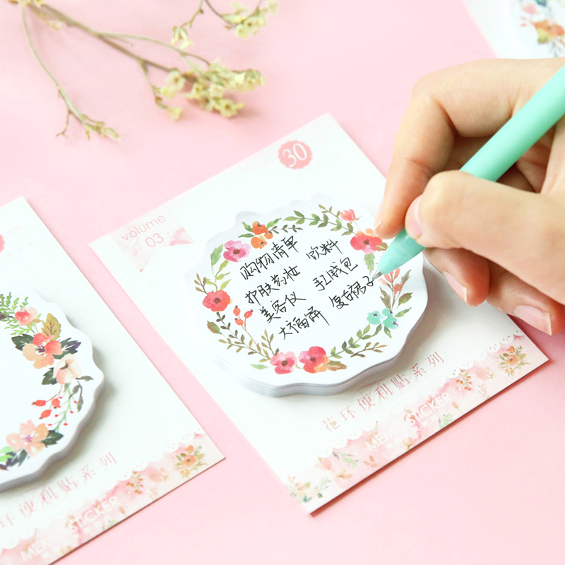 8 pcs/Lot Floral sticky notes Romantic rose sticky notes Diary stickers Message note Stationery office School supplies F620