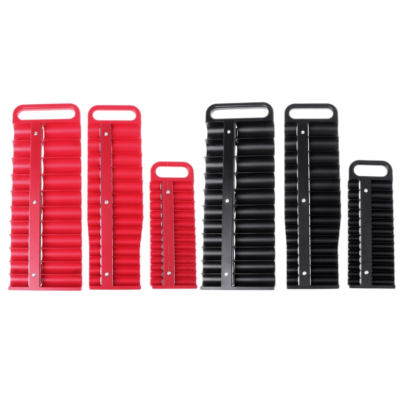 Magnétique Socket Holder Plateau Lecteur 26 Prises Métrique Organisateur Rail Rack boîte à Outils dans Armoires à outils de Outils
