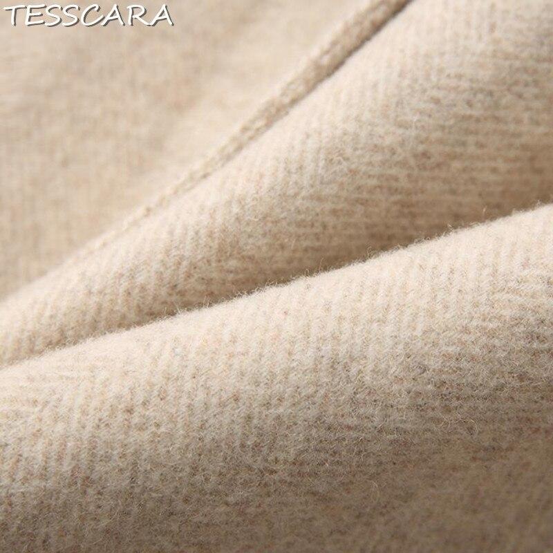 Élégant Khaki Femelle Et Tesscara Mélangée En Femmes D'hiver De Vestes Veste Base Manteau Manteaux Cachemire Bureau Automne Pardessus Laine qErEvUfzw