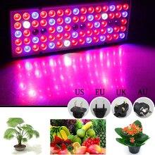 цена на Full Spectrum Plant Grow Lamp 45W LED Lights For Fruit Flower Plant 144leds LED Growing Light 85-265V UV IR White Lamps Panel
