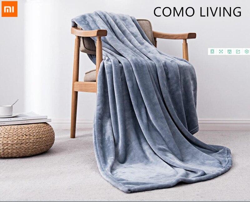 Nouveau Xiaomi Mijia COMO LIVING couverture antibactérienne velours chaud antistatique pour draps et bureau ou maison 3 couleurs