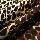 POKWAI moda de manga larga de seda camisas de las mujeres Tops de lujo de calidad de marca Patchwork leopardo imprimir blusa o cuello Undies - 4
