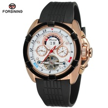 Top Brand Luxury Mens Sport Watches Rubber WatchBand Tourbillon Mechanical Automatic Watch Men relogio masculino