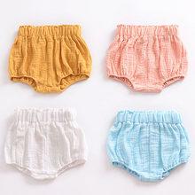 b2cab0147b8f6 Nouveau 0-5Y Kawaii Nouveau-Né Bébé Défaites Shorts PP Pantalon Coton Lin  Triangle Solide Dot Rayé Bébé Filles Shorts D été Pant.