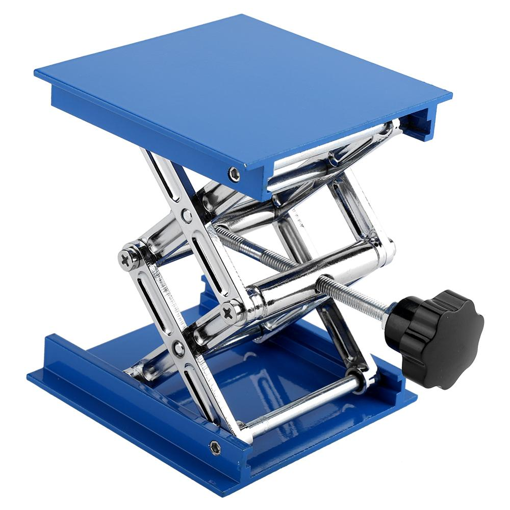 Blue Aluminum Oxide 100 X 100 Lab Lifting Platform For Laboratory Equipment Adjusting Height