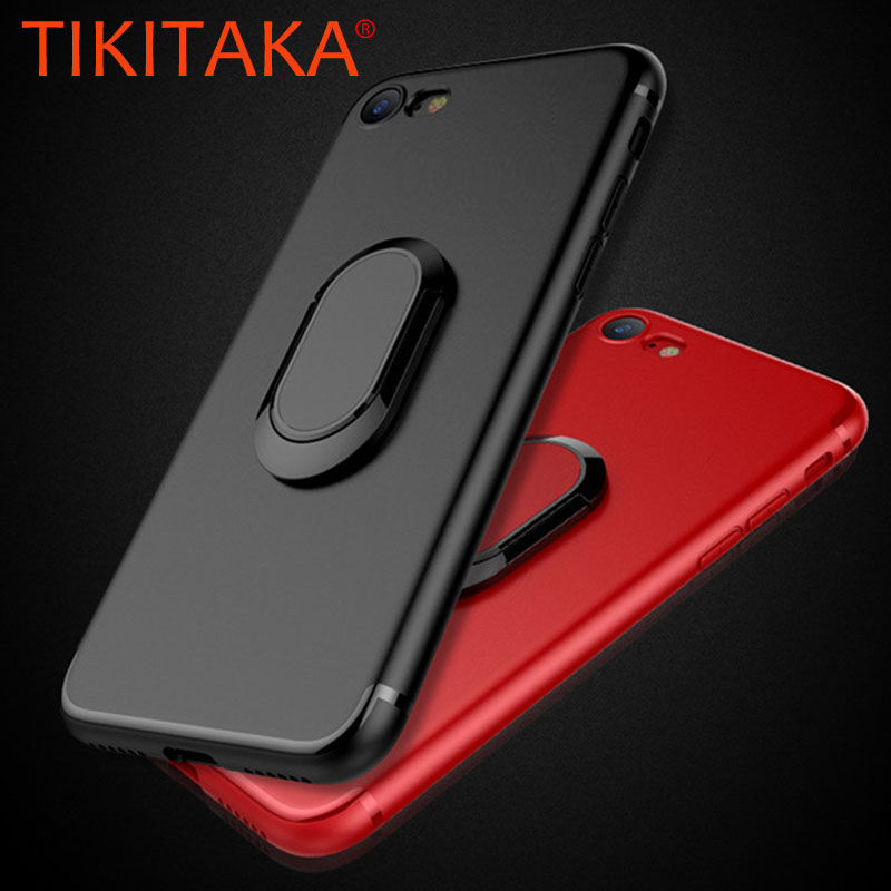 Phone Cases for iphone X 8 7 6 6s Plus S8 Fashion Magnet Car Holder Stand Cover