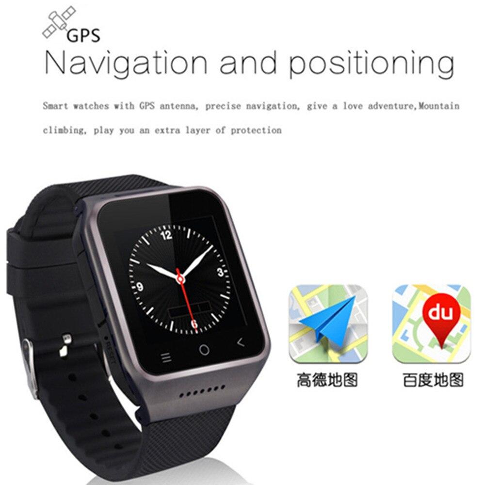 Montre intelligente S8 MTK6580 Android 5.1 double cœur 1 GB + 16 GB SMS GPS WiFi Bluetooth 4.0 Bluetooth SmartWatch 5MP caméra APP Facebook