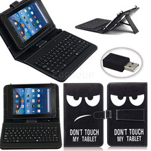 Eagwell 10″ Universal Print PU Leather Case Cover With Micro USB Keyboard For 10 inch Android Tablet PC