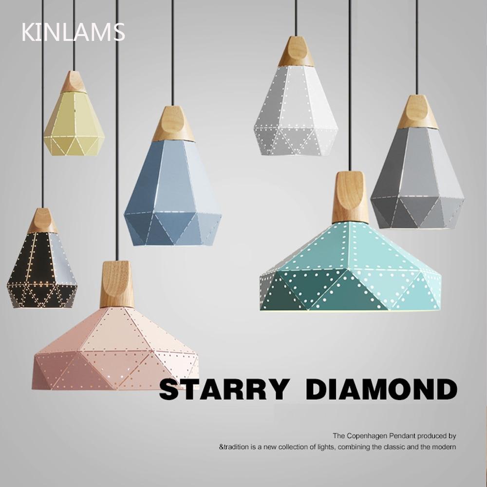 Moderne design anhänger lichter Nordic bunte led lampe für home ...