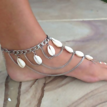 New Vintage Shell Beach Multilayer Tassel Anklet Women's Barefoot Sandle Chain Foot Jewelry C721
