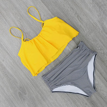 2018 Bikinis Women Swimwear High Waist Swimsuit MI01