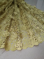 3D Lace Bridal Dress Fabric, High Quality Laser Cut Lace 2018 Beaded Lace Fabric