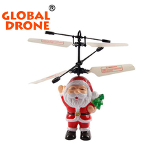 HY838 flying inductive christmas Farther santa claus rc 2ch helicopter gifts for kids  flying toys 2016 new year  flying toy