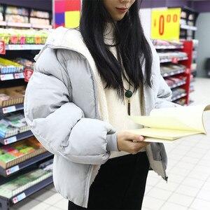 Image 2 - Übergroßen Mäntel Winter Jacke Frauen Und Männer Paare Parka Kapuze Lämmer Wolle Jacken Chaquetas Mujer Kurze Baumwolle Winter Mantel C5669