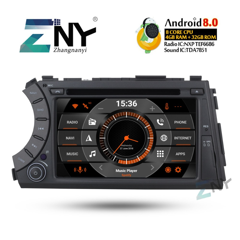 4GB RAM 7 IPS Display Android 8.0 Car Stereo GPS For SsangYong Kyron Actyon Sports Tradie Korando 2 Din DVD Radio FM Navigation