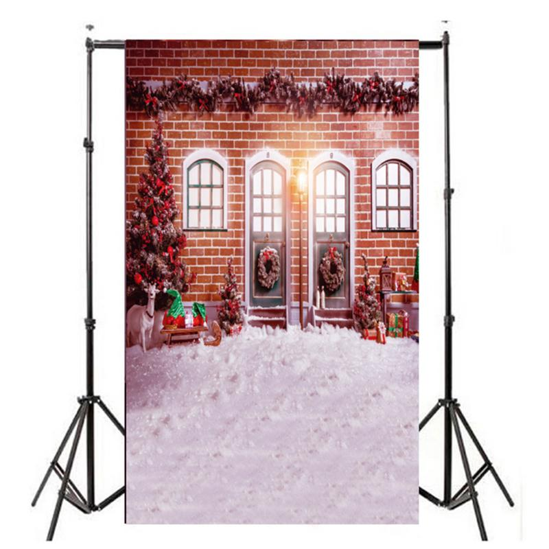 Merry Christmas ALLOYSEED Camera Background 3x5ft Christmas House Retro Vinyl Studio Photo Backdrop Photography christmas background pictures vinyl tree wreath gift window child photocall fairy tale wonderland camera photo studio backdrop