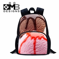 Little Girls Preschool backpack Ice Cream 3D Print small Back pack Personalized Lightweight Backpacking Bags Kids Casual mochila