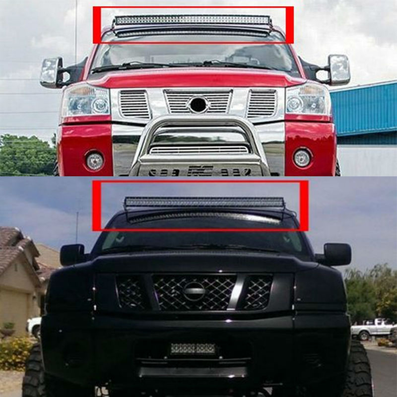 Alibaba aliexpress mounting brackets for 50 inch straight curved led light bar working light for nissan titan offroad mozeypictures Gallery
