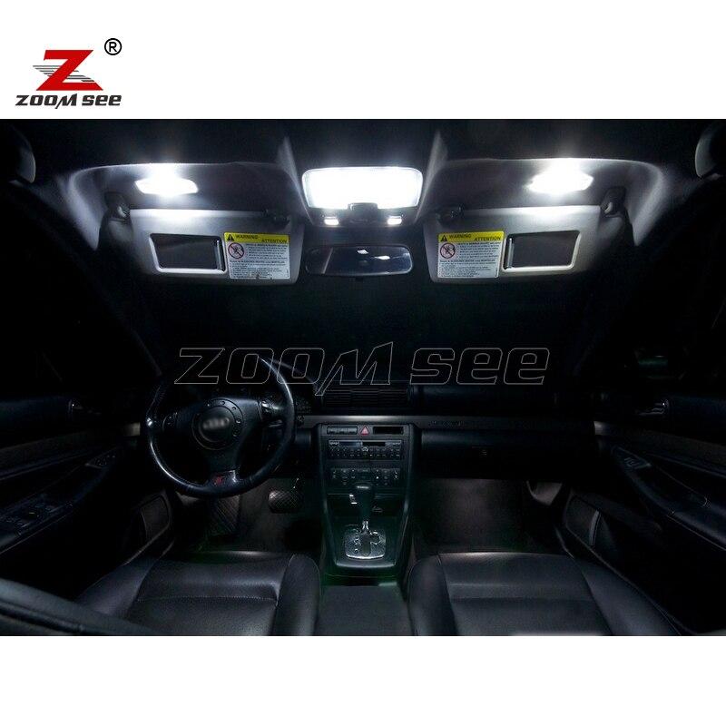 15 шт. x светодиодная интерьерная с Canbus купольная лампа для чтения Комплект посылка для 1996-2001 год Audi A4 S4 B5 седан