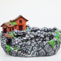 Kreatywny mikro element dekoracji krajobrazu doniczka wiszące ogród kompozycja z kwiatów kosz sukulenta uchwyt Bonsai doniczka ogrodowa