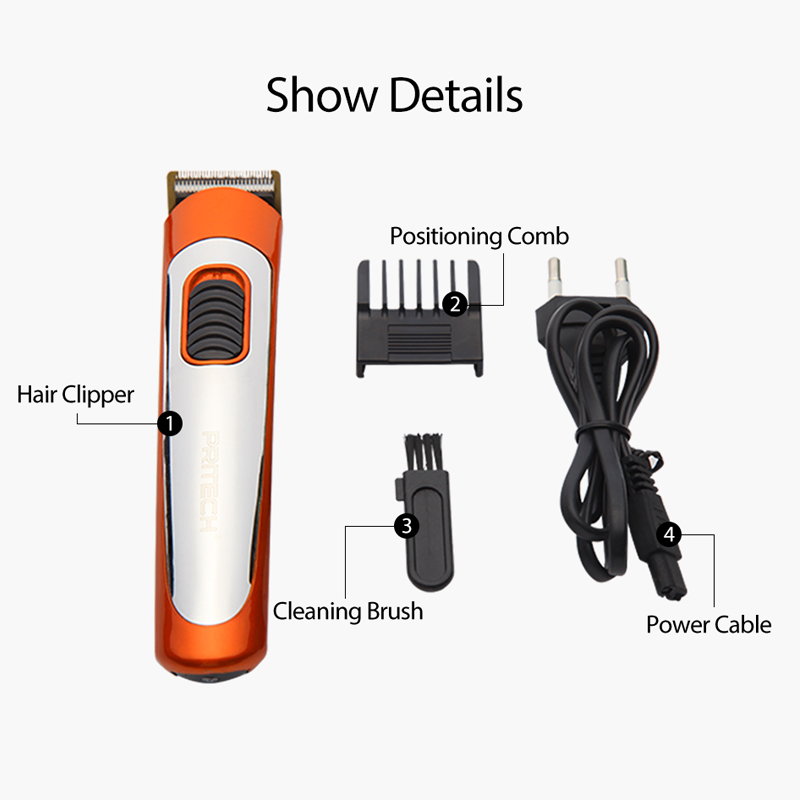 PRITECH Portable Electric Hair Clipper Professional Mini Hair Trimmer Cutting Machine Beard Barber Razor For Men Style Tools 4