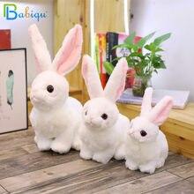 1pc 23/30/35cm Simulation Kawaii lapin en peluche jouets en peluche mignon Animal jouets pour enfants enfants anniversaire et noël cadeau poupée