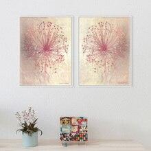 Розовые французские пасторальные картины Романтический плакат абстрактные наклейки на стену для украшения дома гостиная холст Художественная печать живопись