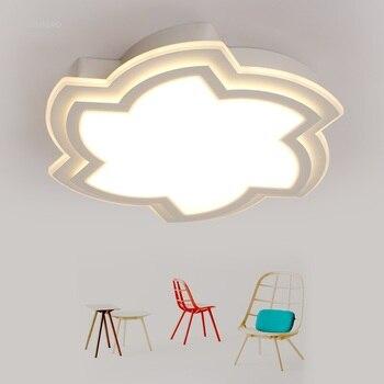 Светодиодный потолочный светильник, простая современная лампа для спальни, лампа для учебы, ресторана, круглый потолочный светильник для г...