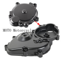 Black Motorcycle Engine Crankcase Starter Cover with Gasket For Kawasaki Ninja ZX6R ZX 6R ZX600 2009 2011 2010 08 09 10 11