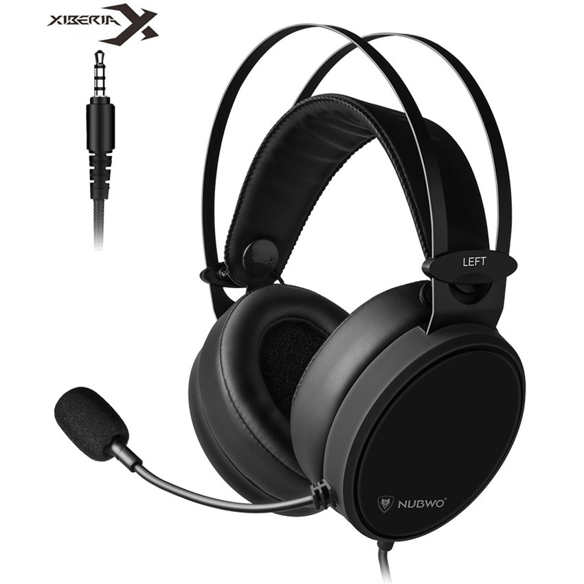 Xiberia Nubwo N7 PS4/New Xbox One Headset PC Casque Bass Stereo Gaming Headphones for Mobile Phone Computer TV Tablet With Mic sades r5 ps4 headset gamer casque pc gaming headphones stereo earphone with mic for computer xbox one mobile phone laptop mac