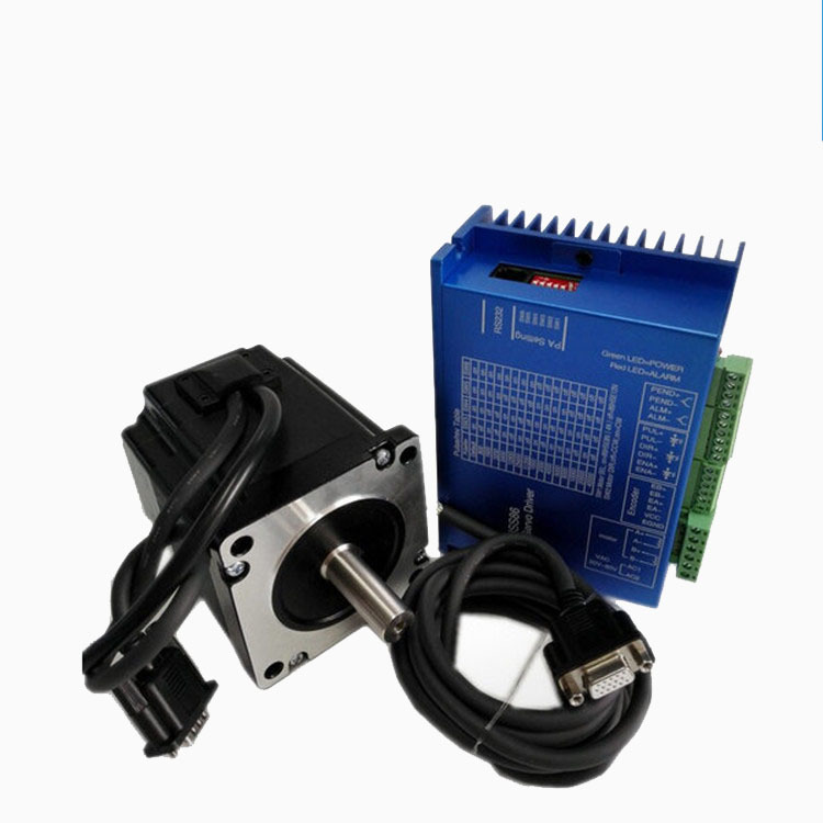 NEMA23 1.26N.M 2.8A 57mm Closed loop stepper motor with driver and 3M cables 57HS56-2804 nema23 2nm 283oz in integrated closed loop stepper motor with driver 36vdc jmc ihss57 36 20