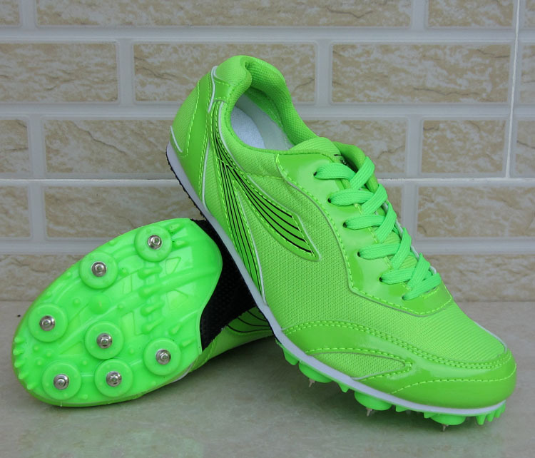 Men Training Spikes Teen Sports Competition Running Shoes unisex sport shoes 100 m Sprin ...