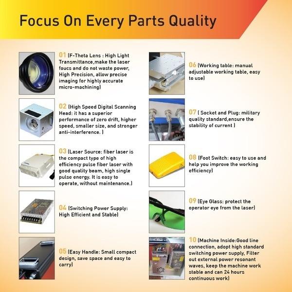 Kvaliteetne kuuma müügiga lauaplaadi kiudlaseriga märgistusmasin - Puidutöötlemisseadmed - Foto 3