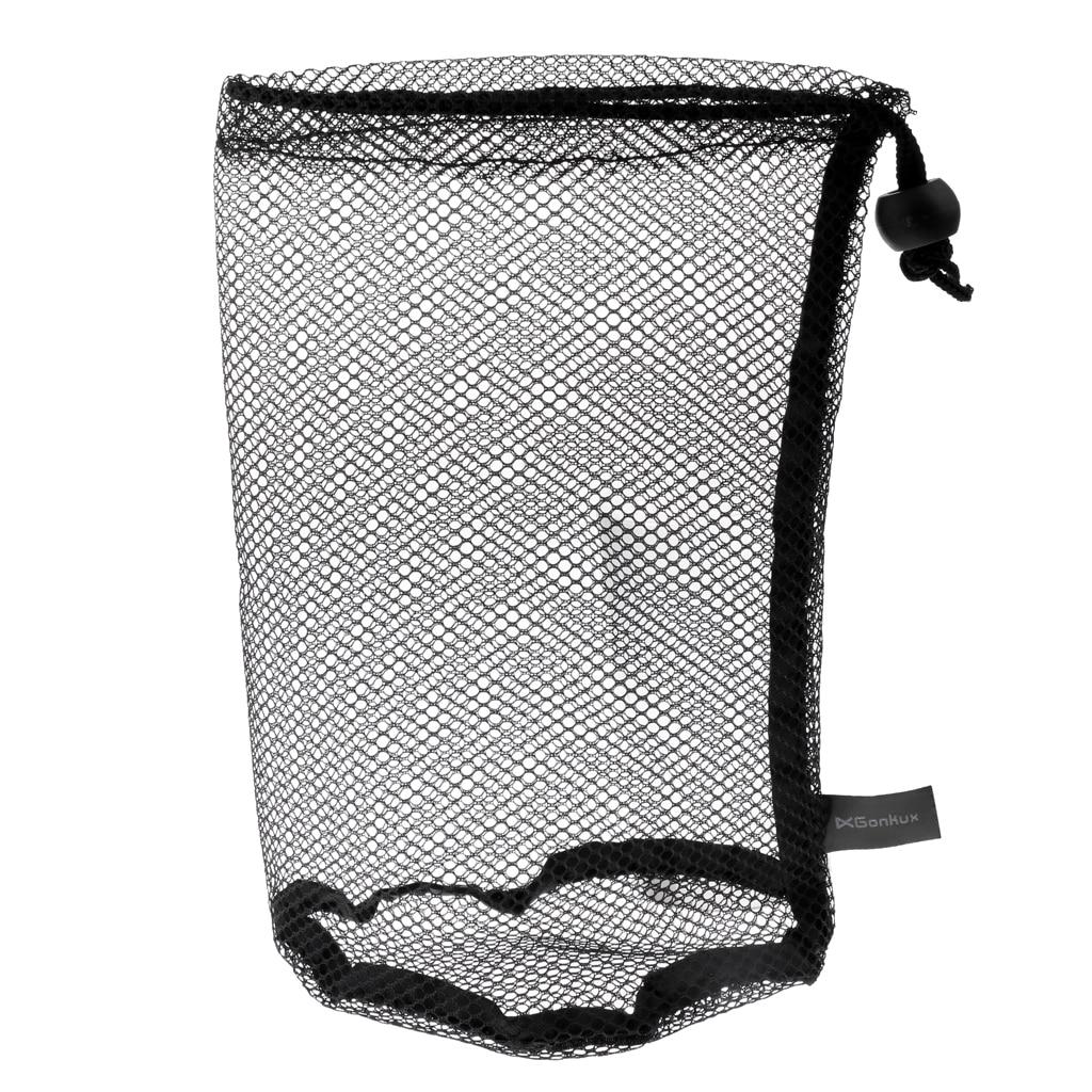 Durable Nylon Mesh Net Bag Pouch Golf Tennis Ball Carrying Holder 20 X 14 Cm