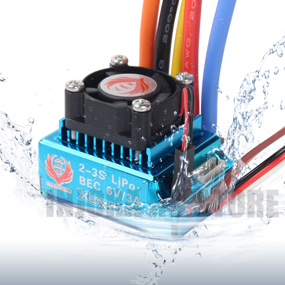 1/10 RC Car 120A Waterproof Brushless ESC Speed Controller with BEC 6V/3A for RC Crawler Axial SCX10 D90 Traxxas TRX4