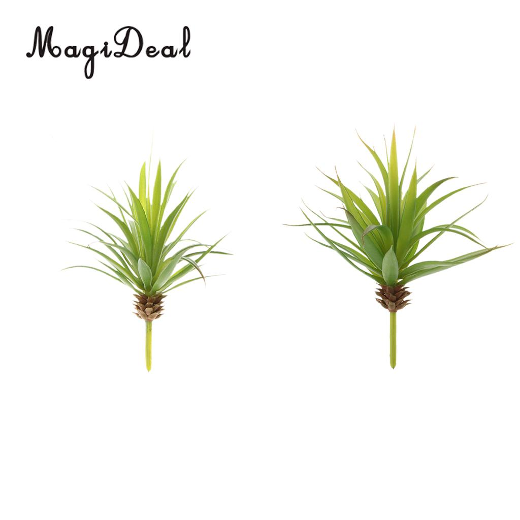 MagiDeal Artificial Succulent Real Touch Gladiolus Plant Garden Decor S+L Green